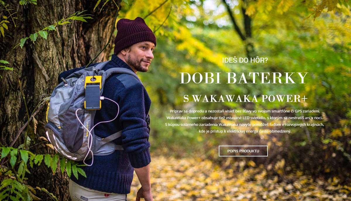 Solárna nabíjačka WakaWaka Power+ a turista