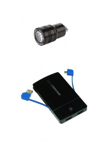 Set powerbank 5000 mAh + usb led svietidlo
