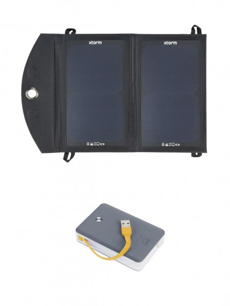 Set solárny panel Xtorm + powerbank 9000 mAh