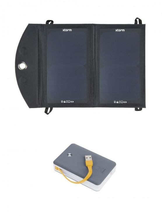 Set solárny panel Xtorm + powerbank 9000 mAh